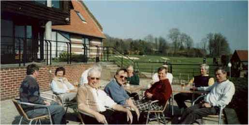 (from left) Rick Jones, Marise Smith, Martin Smith's Hair, Terry Wall, Mike Harris, Robert Wheatley, Brian Woodham, Bryan Reid, Les Rose